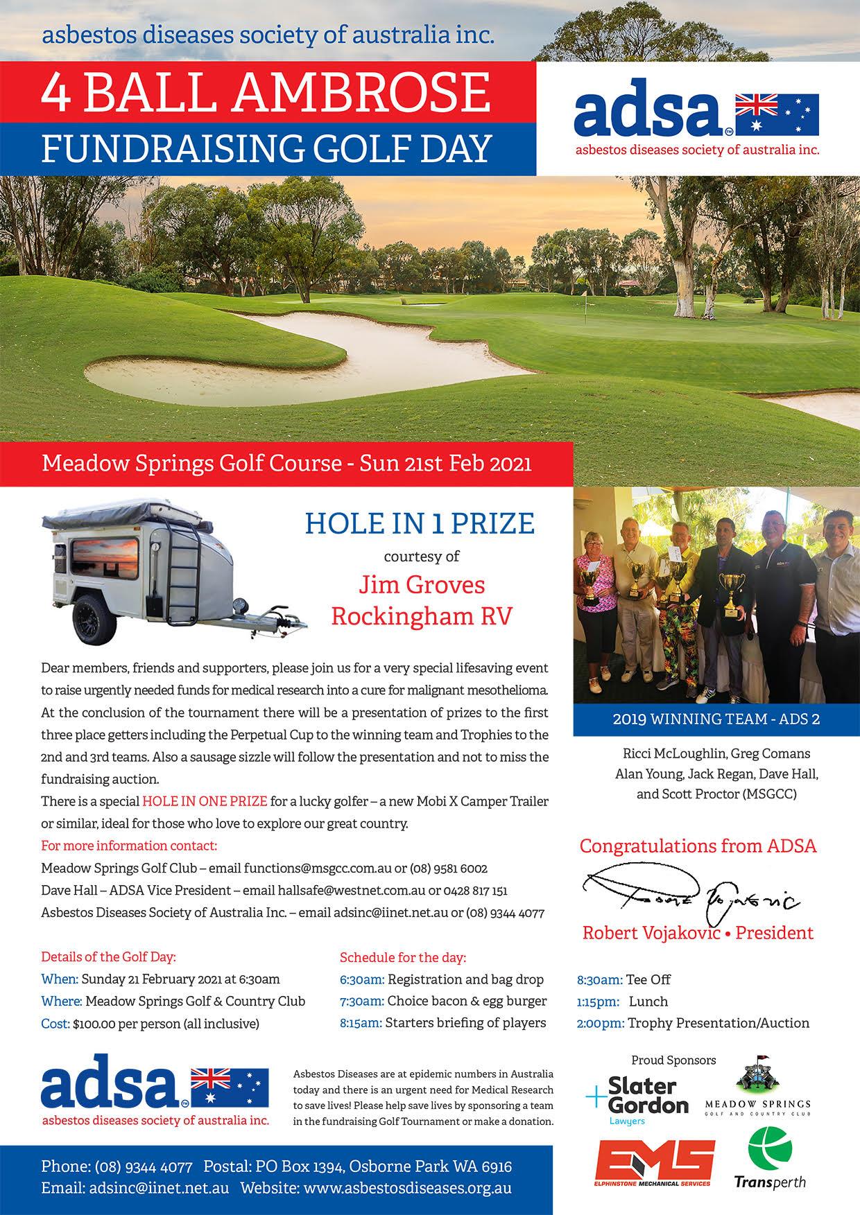 4 Ball Ambrose Fundraising Golf Day - Asbestos Diseases